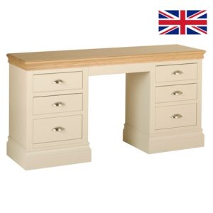 Lundy Pine Dressing Table Double with oak top